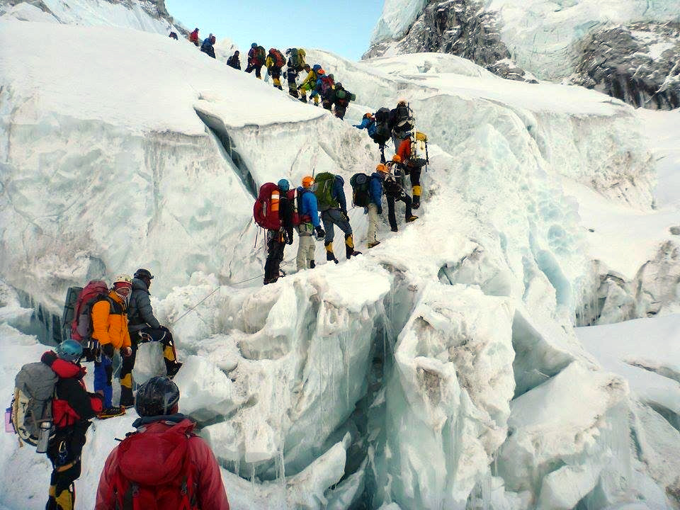 There is no doubt overcrowding in the Khumbu Icefall does make Everest more dangerous, but it's not the only factor (Photo: Edita Nichols)