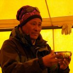 Chongba Sherpa at the expedition puja ceremony on the north side of Everest in 2012