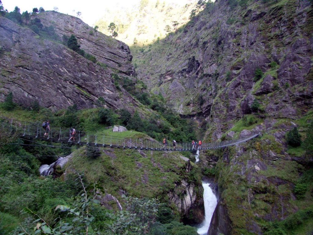 The classic miles-above-a-gorge bridge