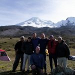 Our team at the foot of Antisana after our climb in 2009. I'm the one in the marriage-proposal position.