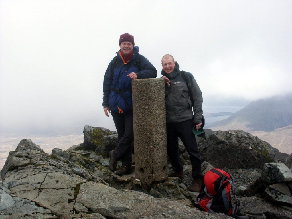Tony and me on the summit of Bruach na Frithe. As you can see, it was relatively clear that day.