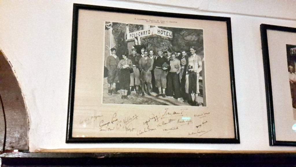 The 1953 Everest team used to meet regularly at the Pen-y-Gwryd for reunions