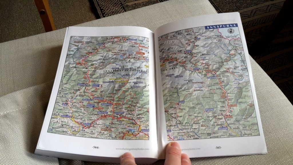 The paperback version contains a number of extra maps