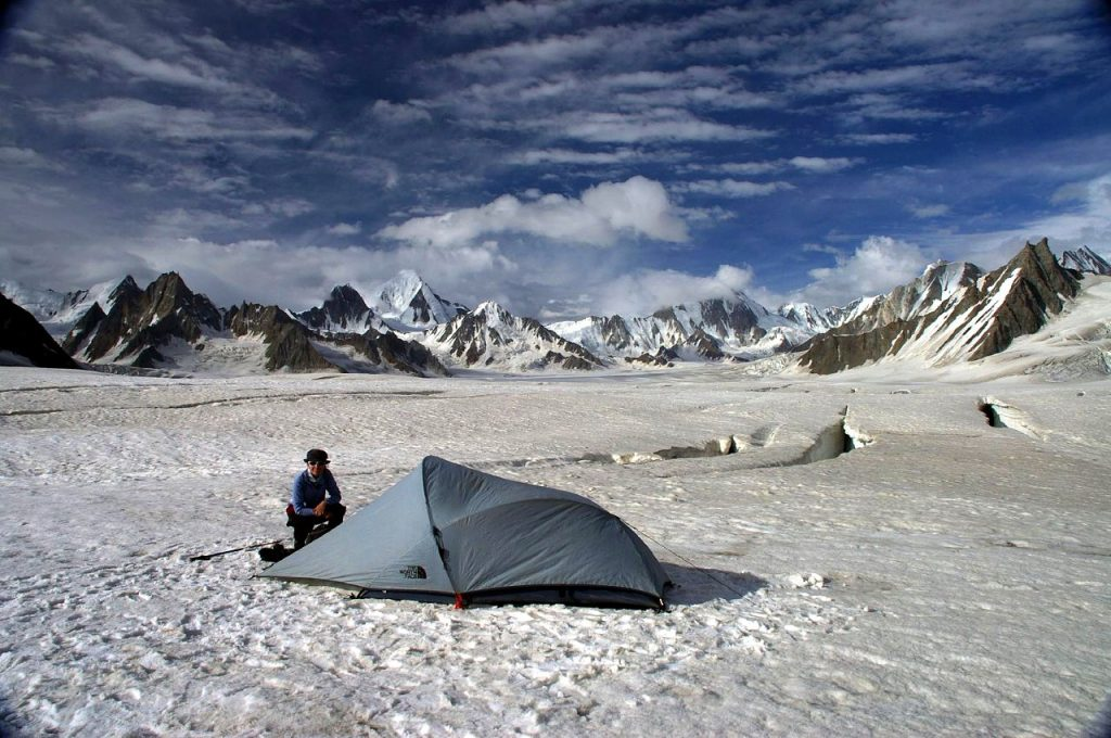 Camping on Snow Lake in the Pakistan Karakoram (Photo: Ben Tubby)