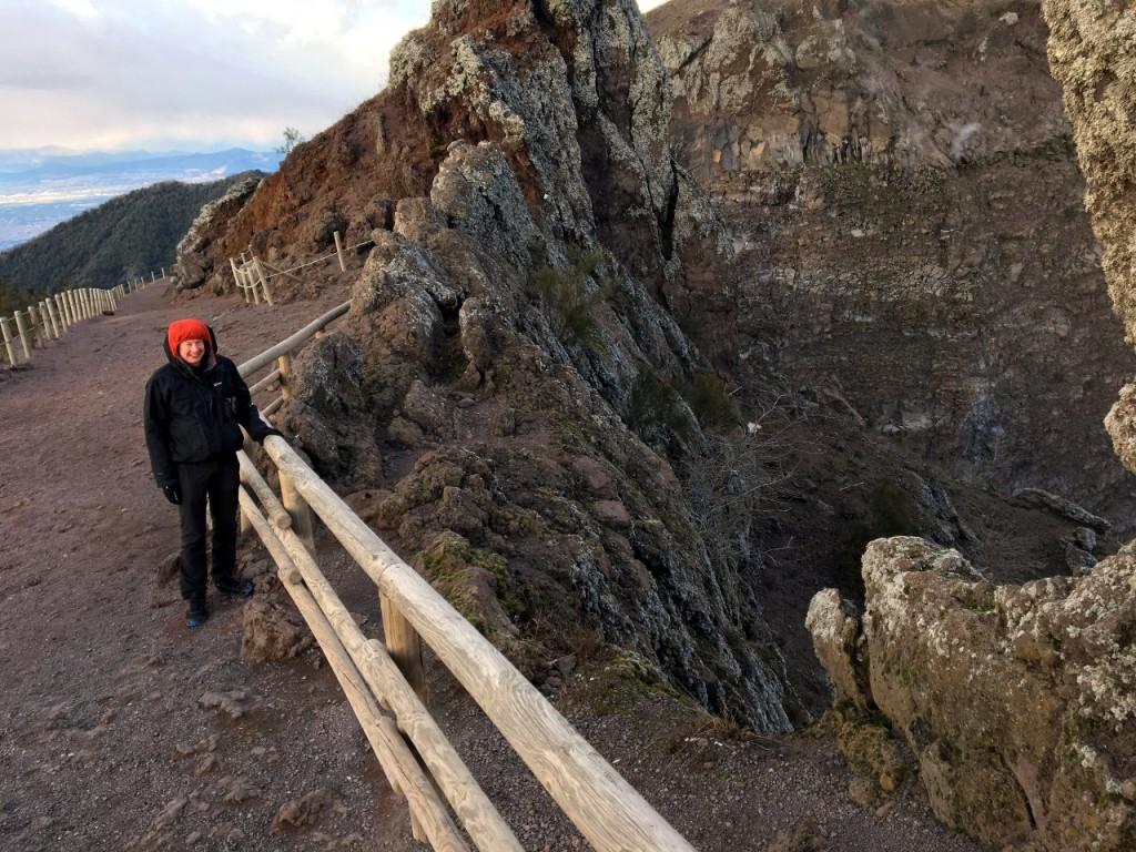 On the crater rim of Vesuvius (Photo: Edita Nichols)