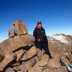 Me on the summit of Akioud (4030m), with Afella behind