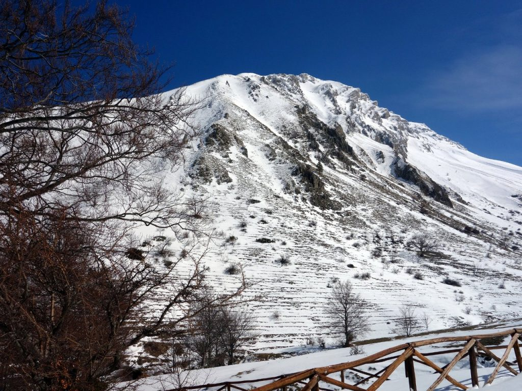 Monte Corvo from Piano del Castrato