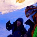 Selfie of Tomek Mackiewicz and Elisabeth Revol on Nanga Parbat (Photo: Elisabeth Revol)