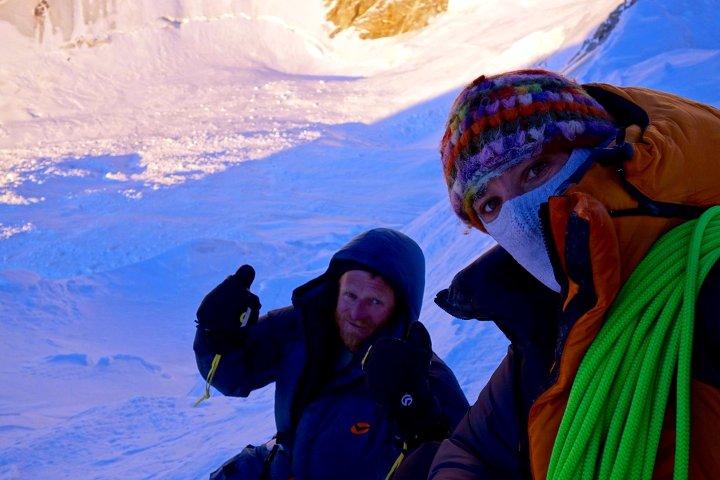 Selfie of Tomek Mackiewicz and Elisabeth Revol on Nanga Parbat (Photo: Elisabeth Revol)