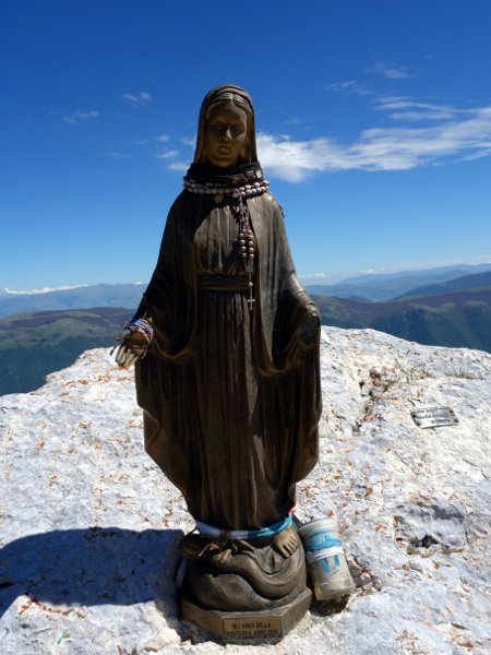 The Virgin Mary: Pizzo Deta's summit monument