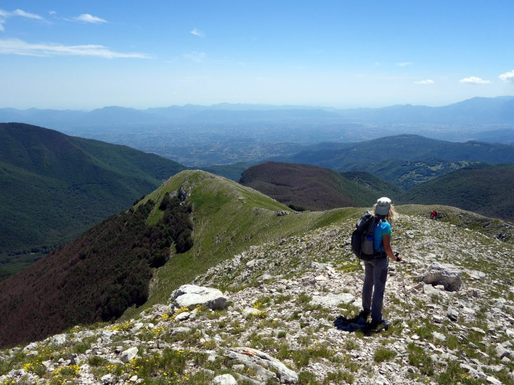 Looking south from the summit of Monte Fragara, towards the province of Frosinone and its many towns and villages in the plains below