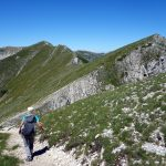 Traversing the long, undulating ridge between Pizzo Deta and Monte del Passeggio