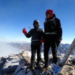 Edita and me on the summit of Jebel Toubkal (4167m)
