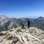 On Monte Corvo's summit, with rocky peaks, emerald green basins and horseshoe ridges to the east (Photo: Edita Nichols)