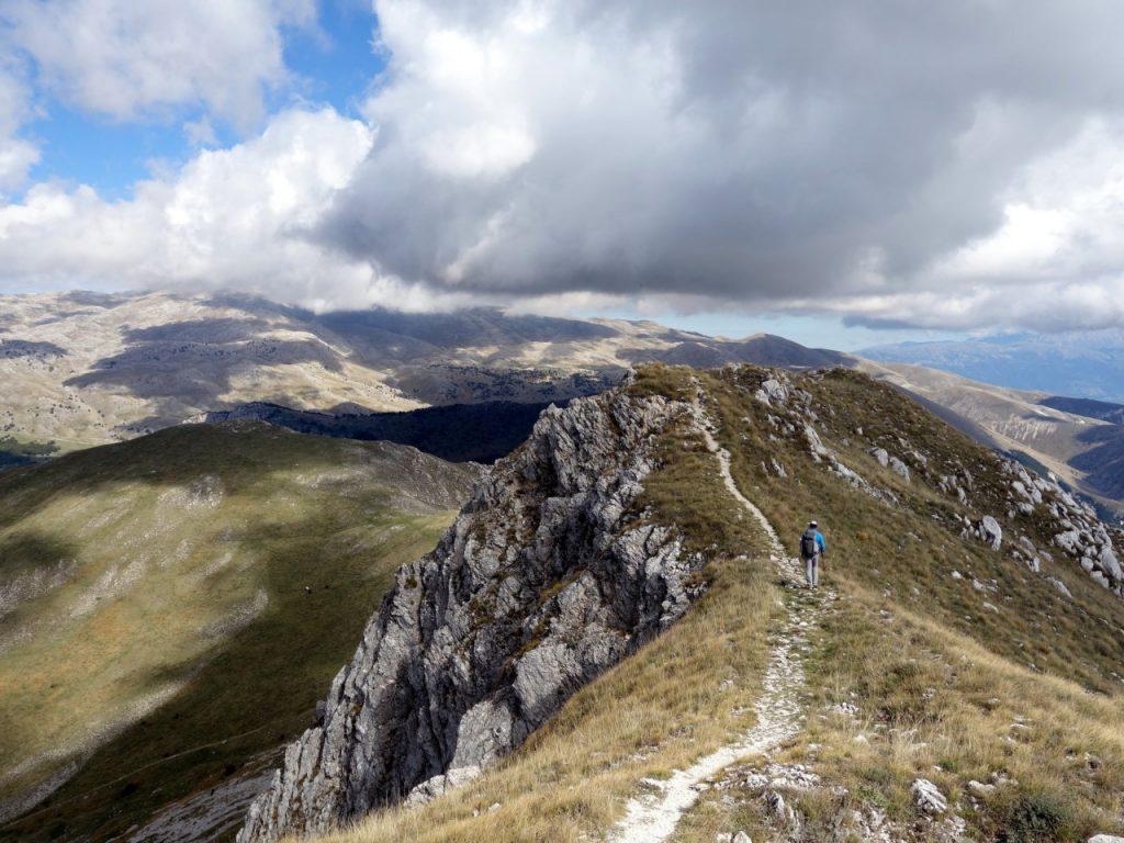 On the summit ridge of Serra di Celano