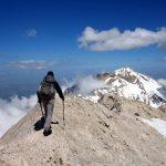 On Monte Prena's summit ridge, with Monte Camicia on the horizon