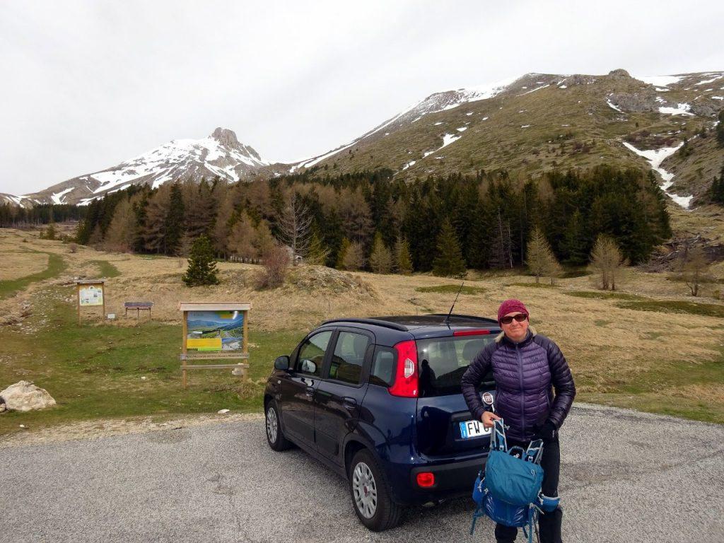 Edita at Fonte Vetica, with Monte Camicia and Monte Tremoggia rising behind