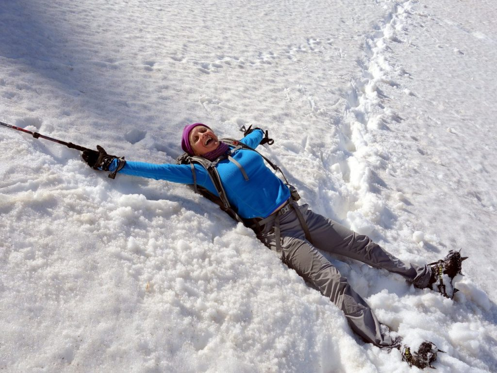 Edita feeling at home on the snow