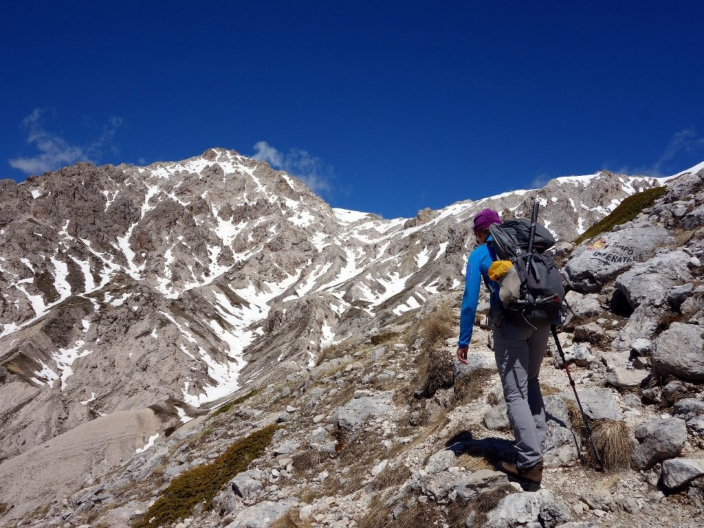 On the way up Monte Prena on trail 109