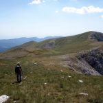 Returning to Monte Marsicano from Marsicano Est