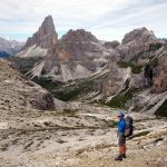 Above the Pian di Cengia, with Tre Cime di Lavaredo behind