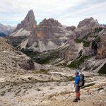 Above the Pian di Cengia, with Tre Cime di Lavaredo behind