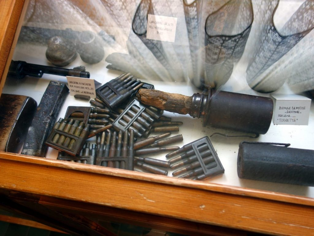 The hut had its own tiny museum containing an amazing assortment of war relics picked up from the mountaintop