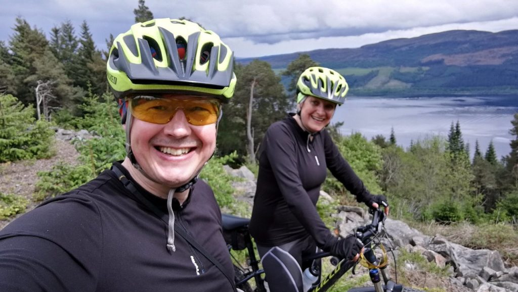 Edita and me high above Loch Ness