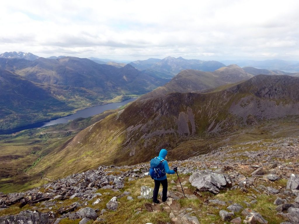 Descending from Am Bodach with Loch Leven below