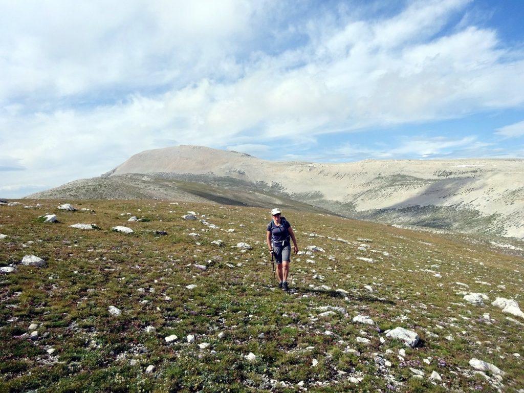 Edita above the Valle di Femmina Morte with Monte Amaro behind