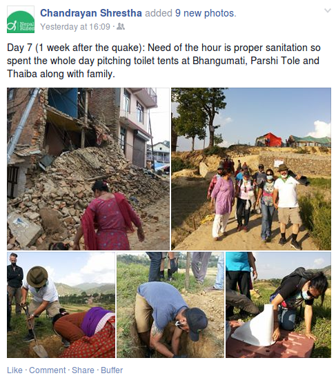 Chandrayan Shrestha Facebook post