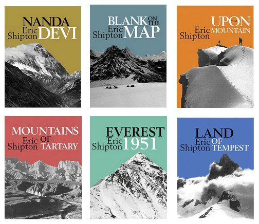 Eric Shipton's six mountaineering classic are now available as reasonably priced digital editions