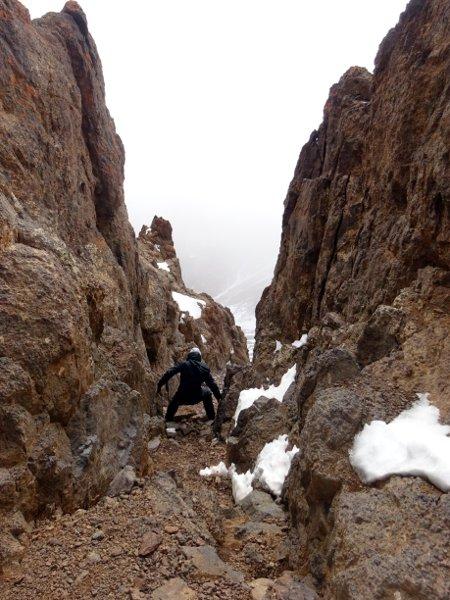 A 5m deep notch separated Imouzzer's summit from its summit ridge