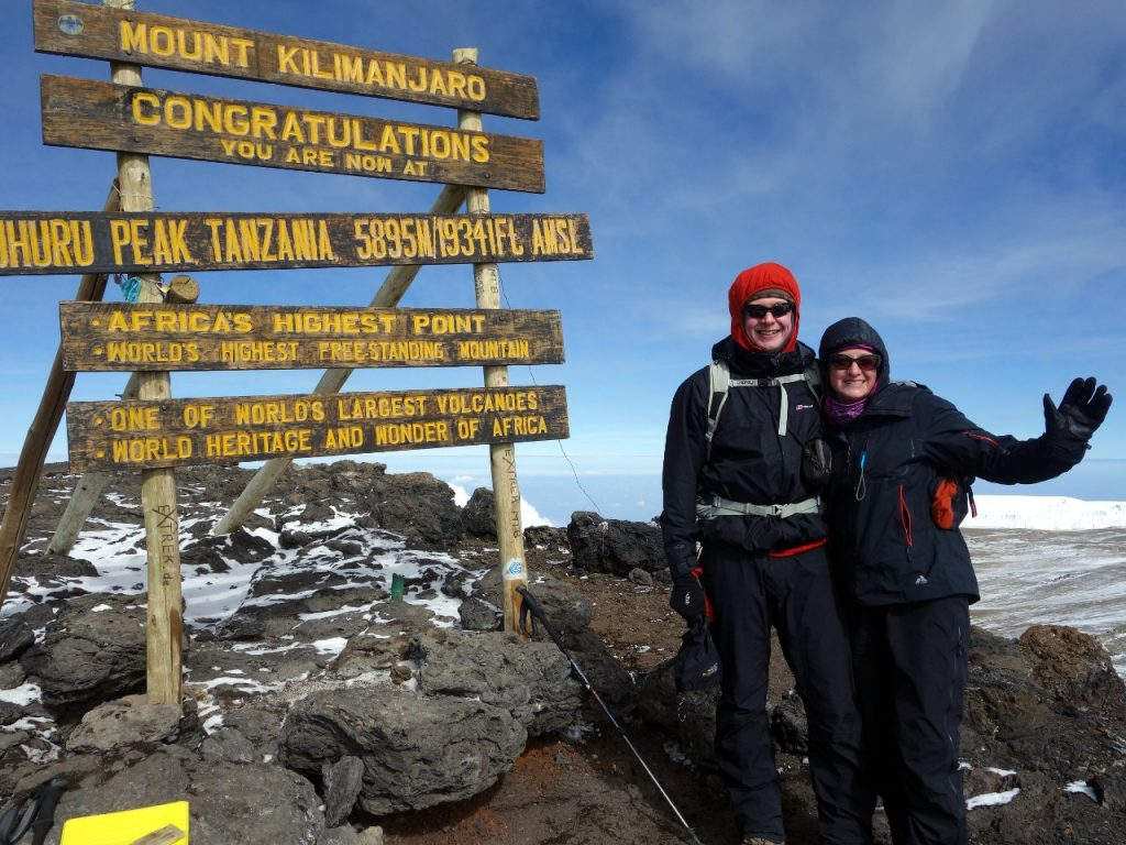 On Uhuru Peak, the summit of Africa, for a second time