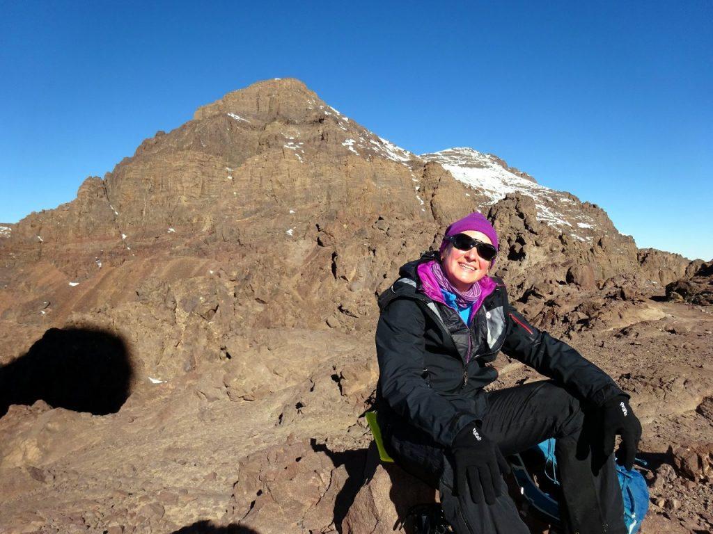 Edita at the pass, with Afella behind