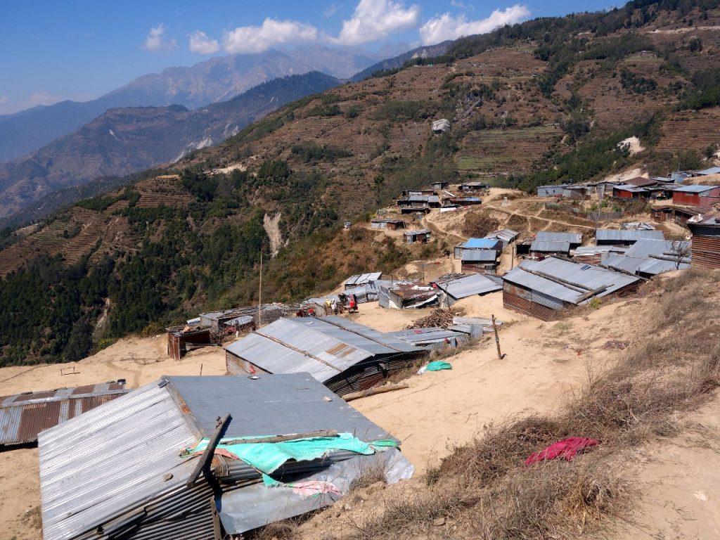 Temporary homes in Gul Bhanjyang