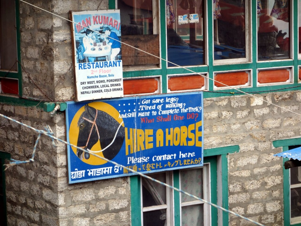 By the time Louis found this shop in Namche Bazaar the moment was gone