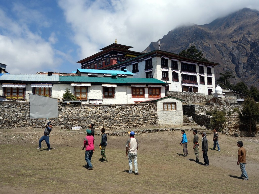 Tengboche Monastery, where Tilman was fortified with a snorter for breakfast