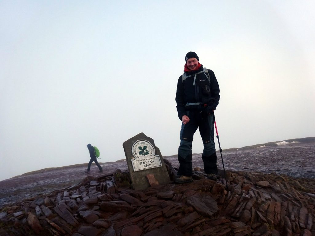 My fourth ascent of a misty Pen y Fan