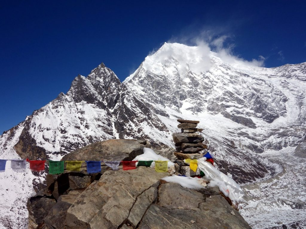 Langtang Lirung (7227m) from Kjanjin Ri