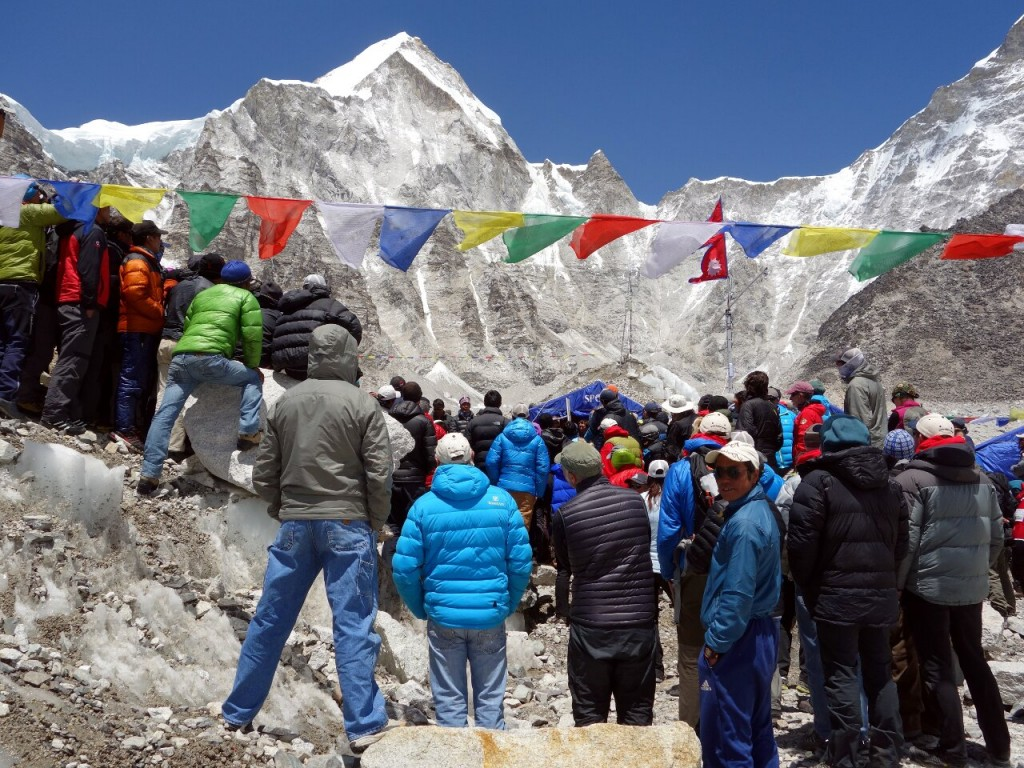 One thing I discovered is that it's definitely a circus at Everest Base Camp in Nepal