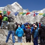 A puja at Everest Base Camp for those who died in the avalanche turned into a political rally