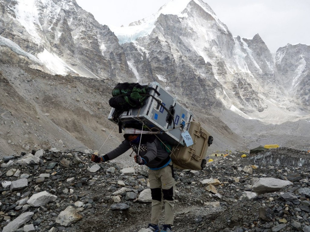 Porters sometimes feel like they are carrying a house on their back, and now they literally can
