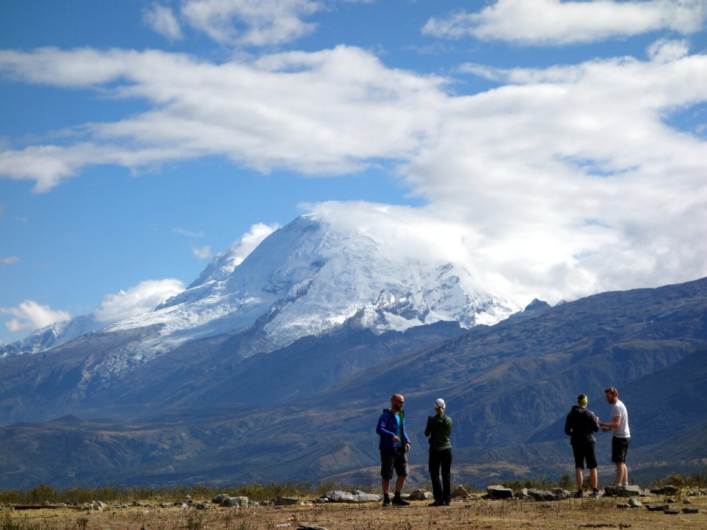 The trailhead at Pashpa is an amazing natural viewing platform for Peru's highest mountain Huascaran