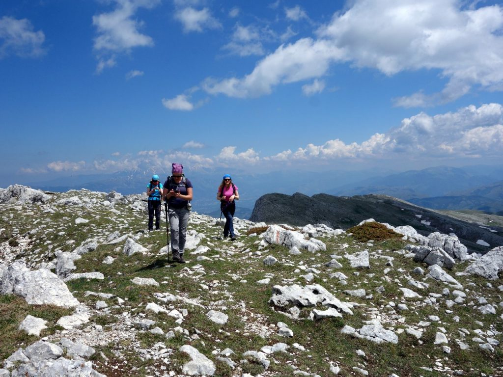 On Monte Sirente's summit plateau