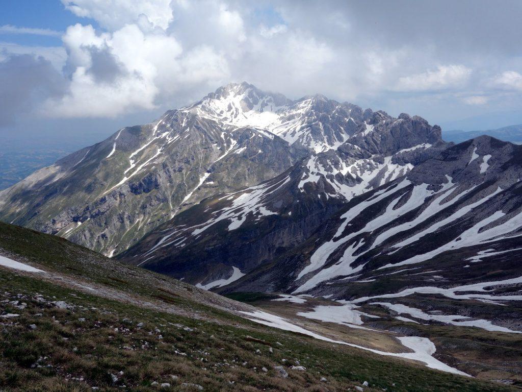 Monte Prena (2561m) from the summit of Monte Brancastello