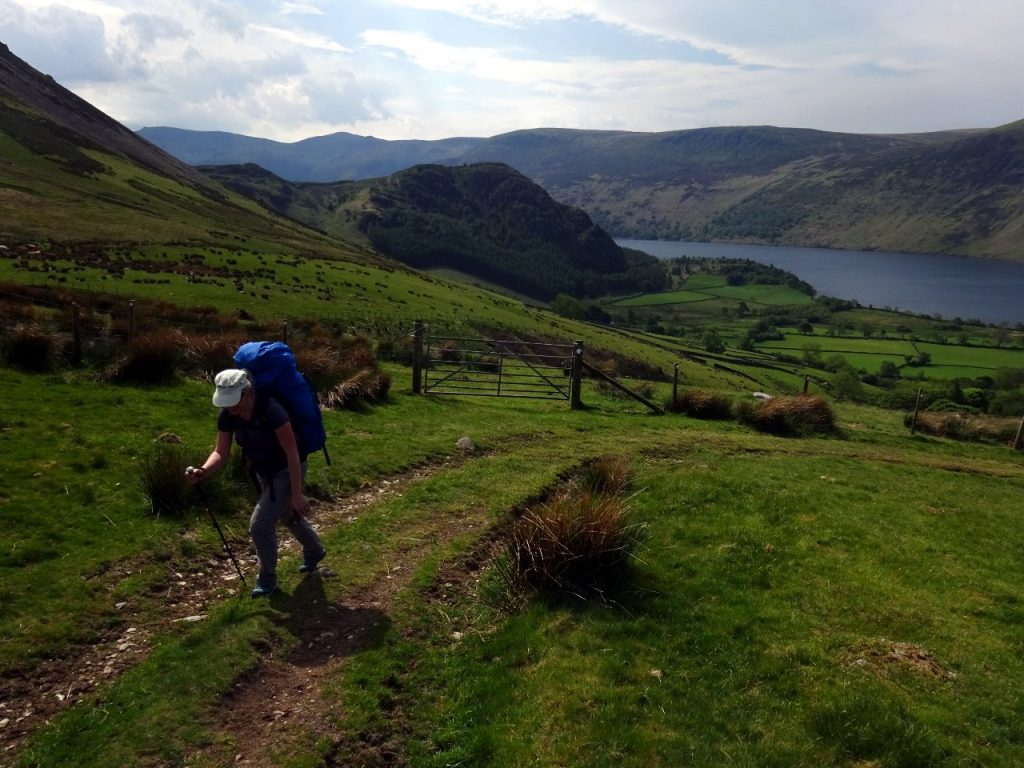 Ascending above Ennerdale Water