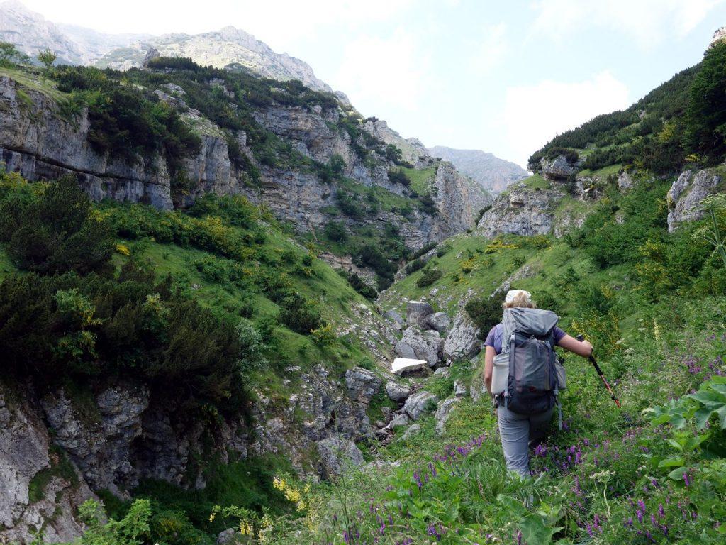 Bushwhacking above Grotta Callarelli