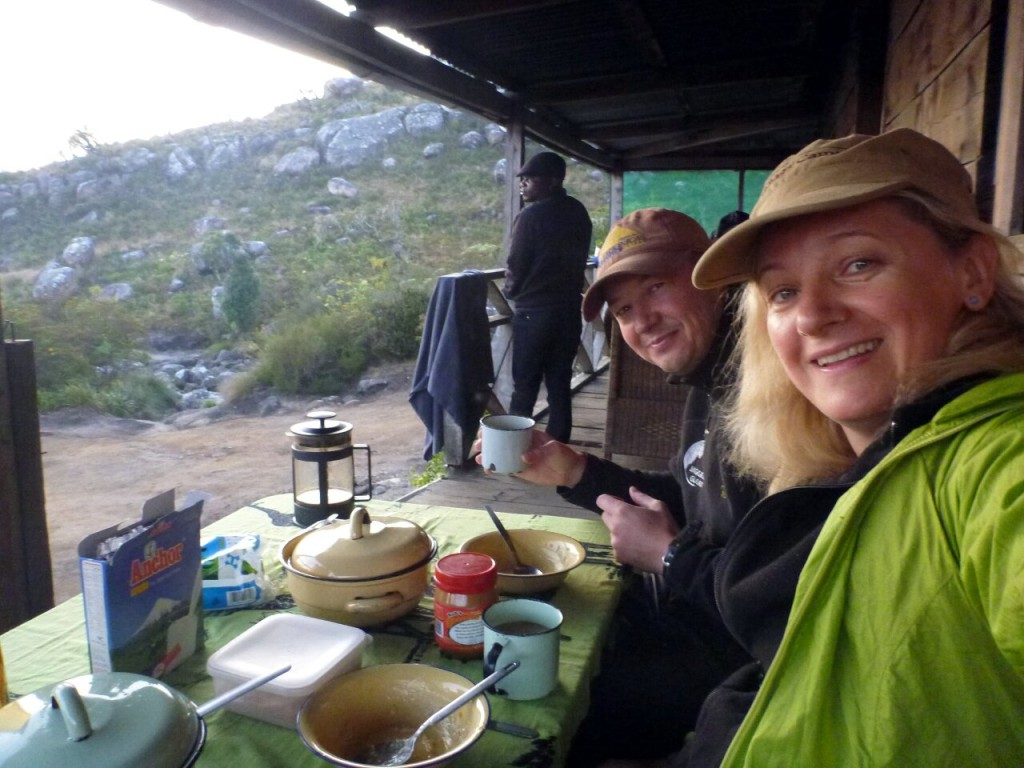 We found a full meal of porridge, cereal and peanut butter at Chisepo Hut on the Mulanje plateau, so we felt we should eat it (Photo: Edita Nichols)