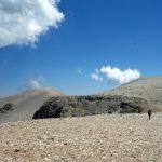 Maiella's moonlike plateau, with Monte Acquaviva (2,737m) left, and Cima L'Innominata (2,727m) right